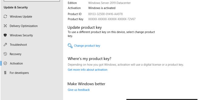 Windows Server 2019: Preview version의 Activation Key – 아크몬드넷
