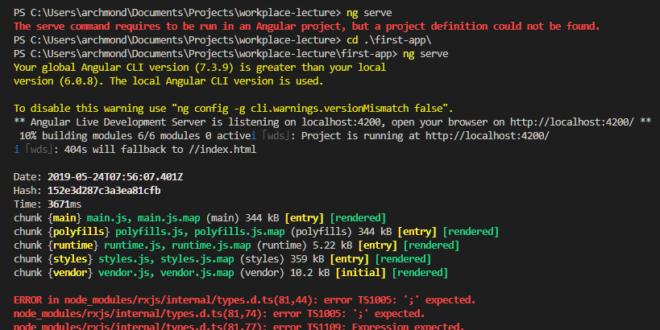 Angular Update(ng update cli, core)